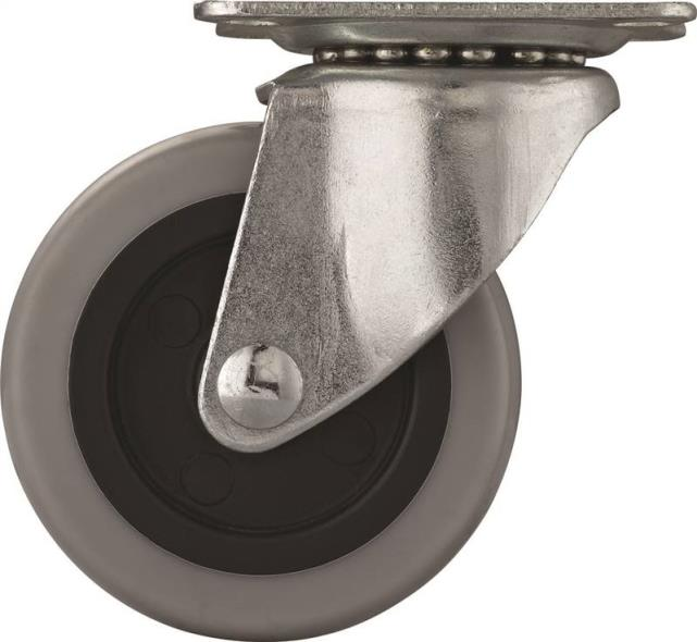 3IN TPR SWIVEL PLATE CASTER
