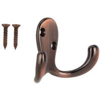 Prosource 23263VCB3L-PS Robe Hooks, Double Prong - Zinc Die Cast, Venetian Bronze