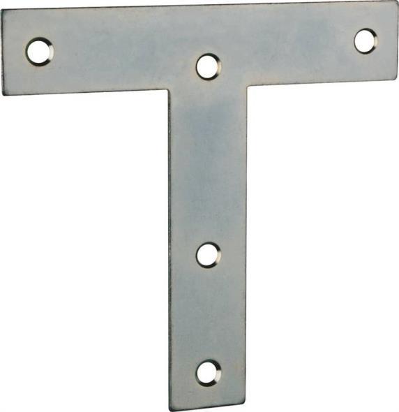 T-PLATE STEEL 5X5IN ZINC PLTD