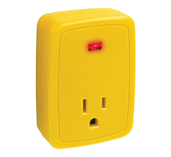 OUTLET SNGL W/INDICATOR LIGHT