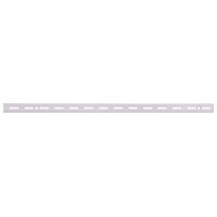 Mintcraft 25211PHL Single Slot Shelf Standard, 24 in L x 7/16 in W 5/8 in T, White