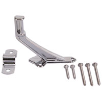 Mintcraft 61-Z082 Handrail Bracket, 2-15/16 in Base H, Die Cast Zinc, Bright Chrome
