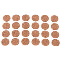 Prosource FE-50700-PS Protective Pads, Cork Pads, 1/2 In
