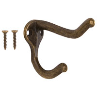 Mintcraft H62-B071 Heavy Duty Coat/Hat Hook, Antique Brass
