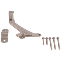 Mintcraft 61-Z083 Handrail Bracket, 2-15/16 in Base H, Die Cast Zinc, Brushed Nickel