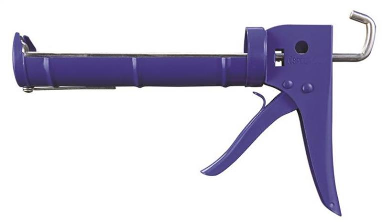 Mintcraft CT-904P Heavy Duty Ratchet Rod No-Drip Caulking Gun, 1/10 gal, Steel