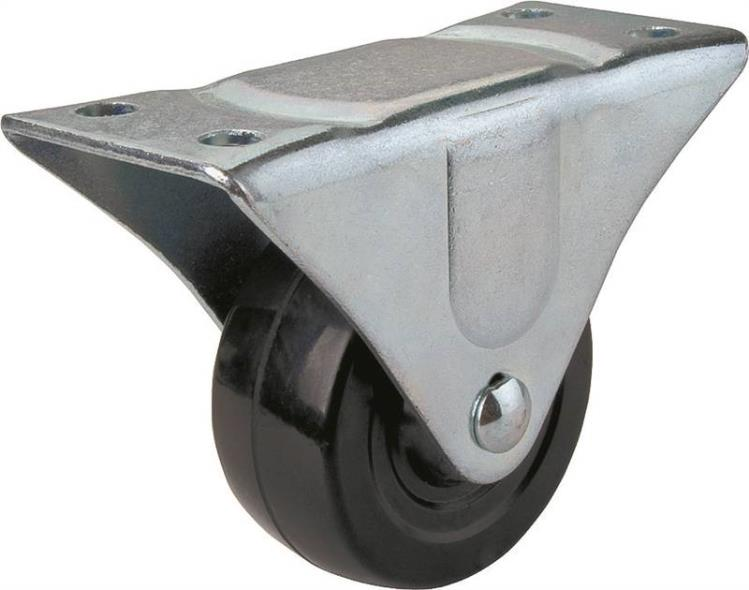 Mintcraft JC-H02 Heavy Duty Rigid Caster, 2-1/2 in Dia x 1-1/4 in W, 130 lb, Rubber