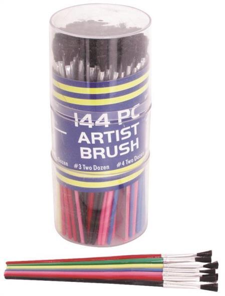 MintCraft A90001 Artist Brush Set, 144 Pieces