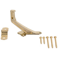 Mintcraft 61-Z080 Handrail Bracket, 2-15/16 in Base H, Die Cast Zinc, Bright Brass