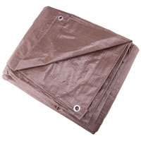 Mintcraft T1216BB90 Medium Duty Tarpaulin, 12 X 16 ft, Polyethylene, Brown