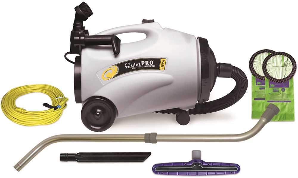 QUIETPRO� VACUUM CANISTER HEPA WITH 107100 TOOL KIT