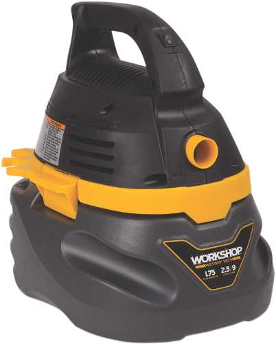 WORKSHOP 2.5 GALLON, 1.75 PEAK HP PORTABLE WET/DRY VACUUM