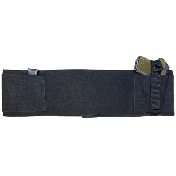 Concealed Carry Belly Band, Black, Size 28 to 34""