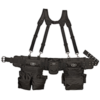 Dead On DO-FR Professional Framers Rig Tool Belt With Padded Suspenders, 2 in W, 30 Pocket