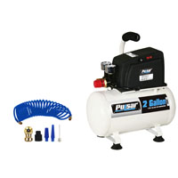 2 GALLON AIR COMPRESSOR W/ ACCESSORIES