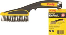 PURDY� SHORT HANDLE WIRE BRUSH, 11 IN.