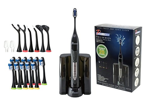 PURSONIC S520BK BLACK ELECTRIC TOOTHBRUSH RECHARGABLE WITH