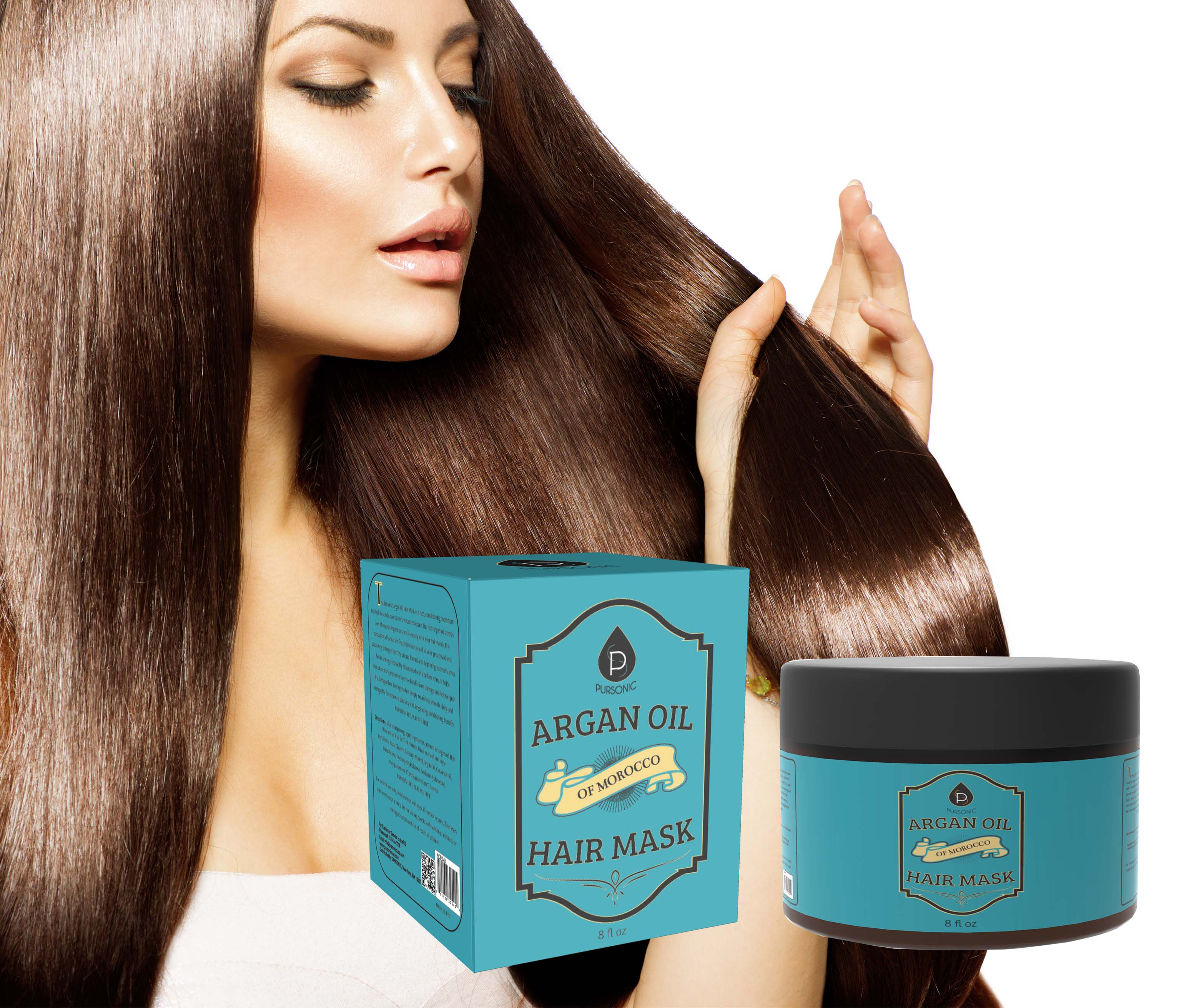 PURSONIC AOHM8 ARGAN HAIR MASK 8OZ OF MOROCCO OIL ORGANIC