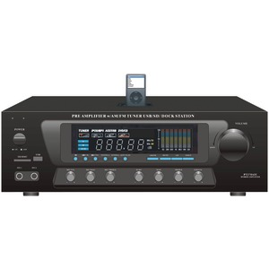 PYLE HOME PT270AIU 30-Watt Stereo AM/FM Receiver with Dock for iPod