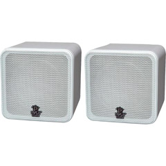 "PYLE HOME PCB4WT 4"" 200-Watt Mini-Cube Bookshelf Speakers (White)"