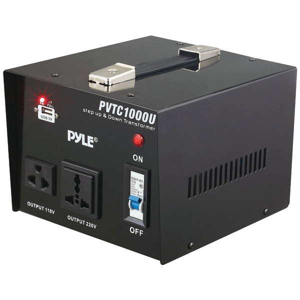 PYLE PRO PVTC1000U Step Up & Step Down Voltage Converter Transformer (1000 Watt)