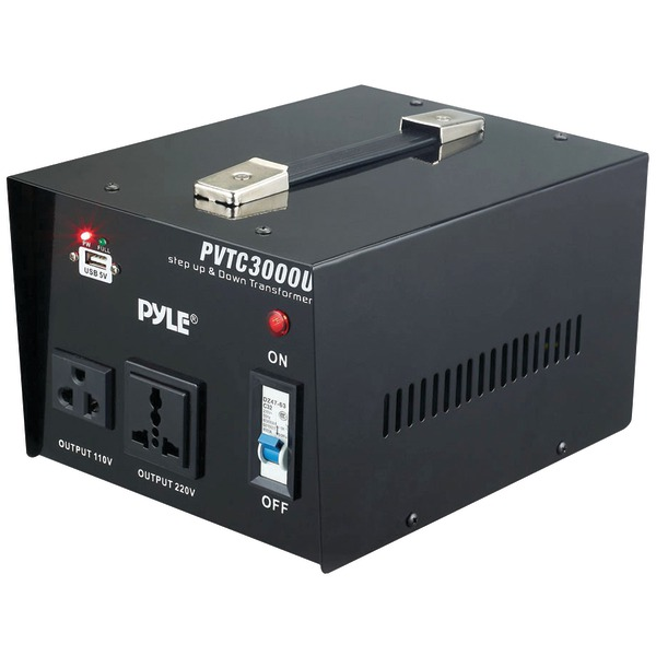 PYLE PRO PVTC3000U Step Up & Step Down Voltage Converter Transformer (3000 Watt)