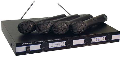 PYLE PRO PDWM5000 4-Microphone VHF Wireless Microphone System