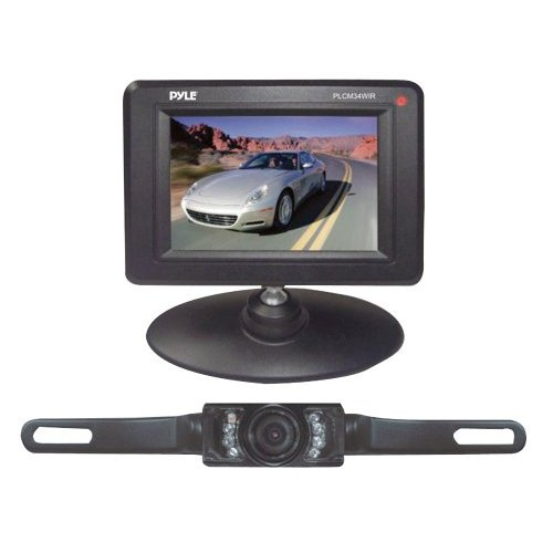 """PYLE PLCM34WIR 3.5"""" Wireless Backup Camera & Monitor System with Night Vision"""