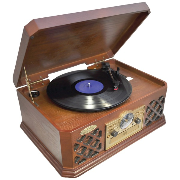 PYLE HOME PTCD4BT Retro Style Turntable with Bluetooth CD Player & Cassette Deck