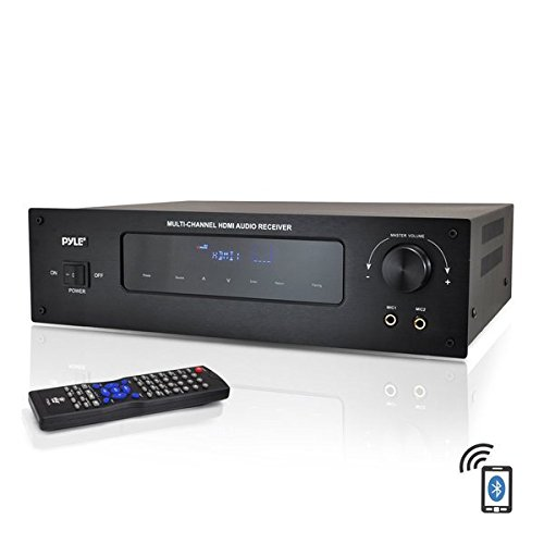 Pyle PT592A Bluetooth 5.1-Channel HDMI Digital Stereo Receiver/Amp