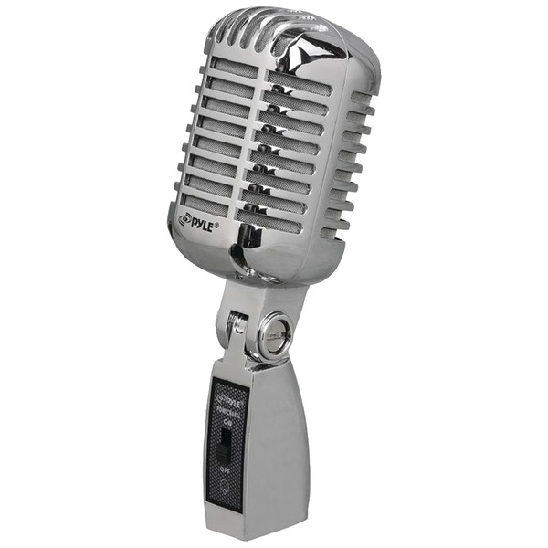 PYLE PRO PDMICR68SL Classic Die-Cast Metal Retro-Style Dynamic Vocal Microphone