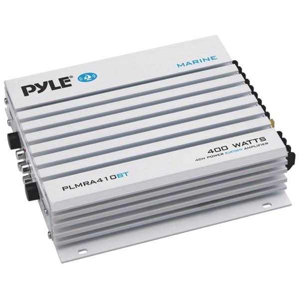 PYLE PLMRA410BT Elite Series Waterproof 400-Watt Marine Class AB Amp with Bluetooth (4 Channels)