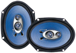 "PYLE PL683BL Blue Label Speakers (6"" x 8"", 3 Way)"