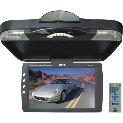 "PYLE PLRD143IF 13.3"" Ceiling-Mount LCD Monitor with DVD Player & IR Transmitter"