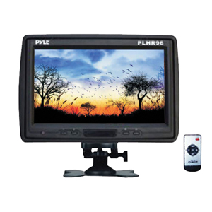 "PYLE PLHR96 9"" Cut-in Headrest Monitor with IR Transmitter, Stand & Shroud"