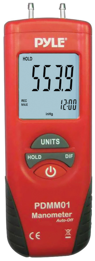 PYLE PDMM01 DIGITAL MANOMETER WITH 11 UNITS OF MEASURE AND