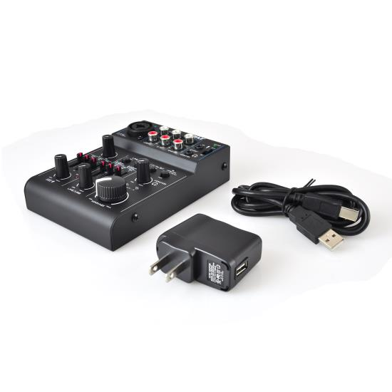 PYLE PAD30MXUBT 3 CHANNEL MIXER DJ CONTROLLER AUDIO INTERFACE