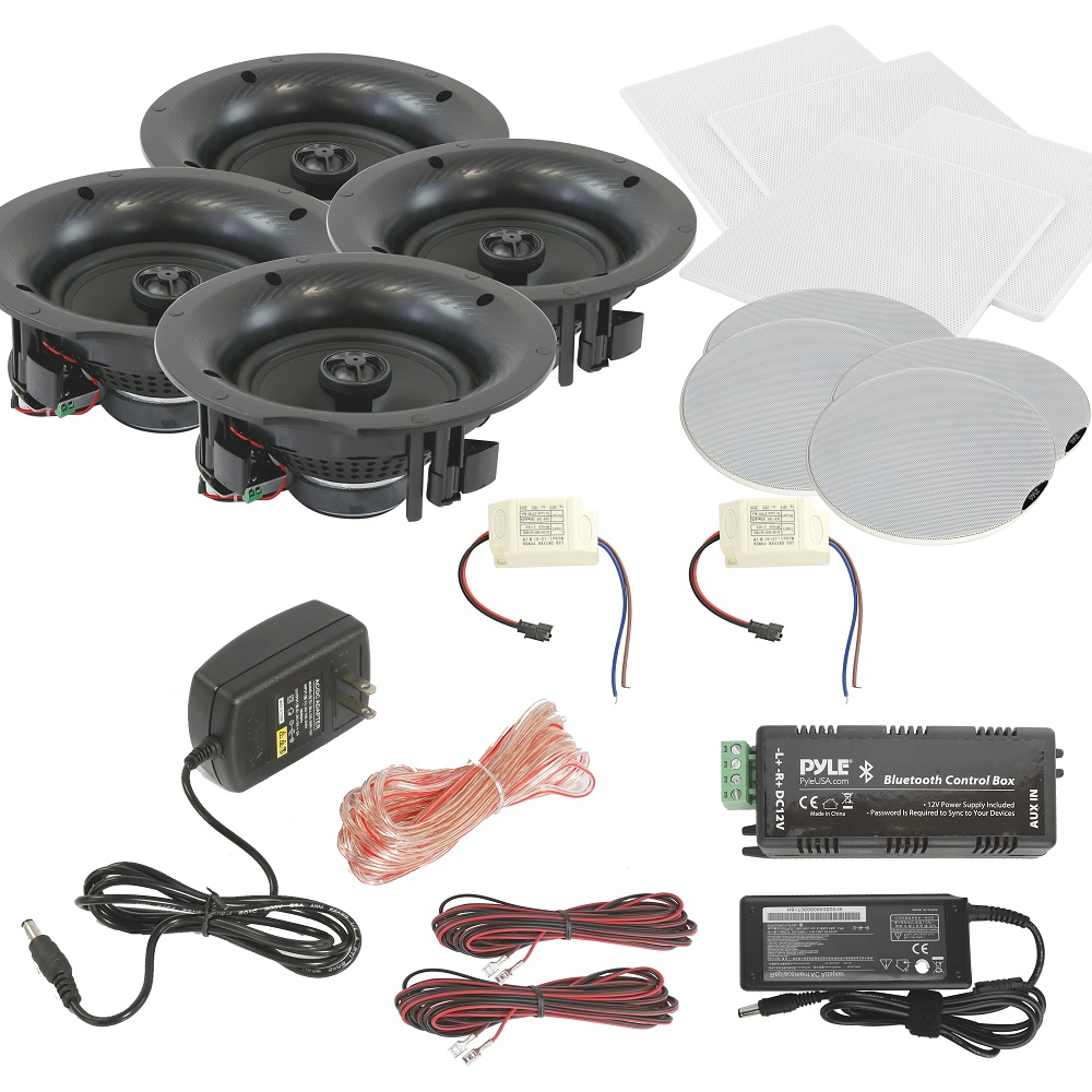 PYLE PDICBT266 6.5INCH BLUETOOTH CEILING OR WALL 4SPEAKER KIT