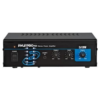 Pyle Mini Computer Stereo Power Amplifier 240 Watts RMS