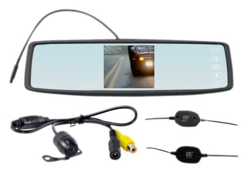 "Pyle 4.3"" Rear View Clip On Mirror with Camera Wireless"