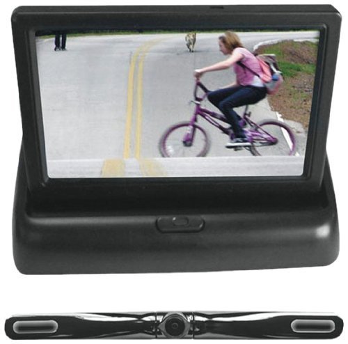 "Pyle 4.3"" Monitor w/ Aluminum Black License Plate Camera"
