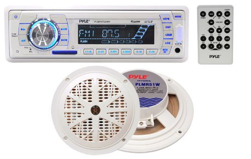 "Pyle AM/FM Mechless radio USB/SD reader 5.25"" Speaker system"