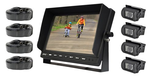"Pyle 10.1"" LCD Monitor with 4 night vision cameras"