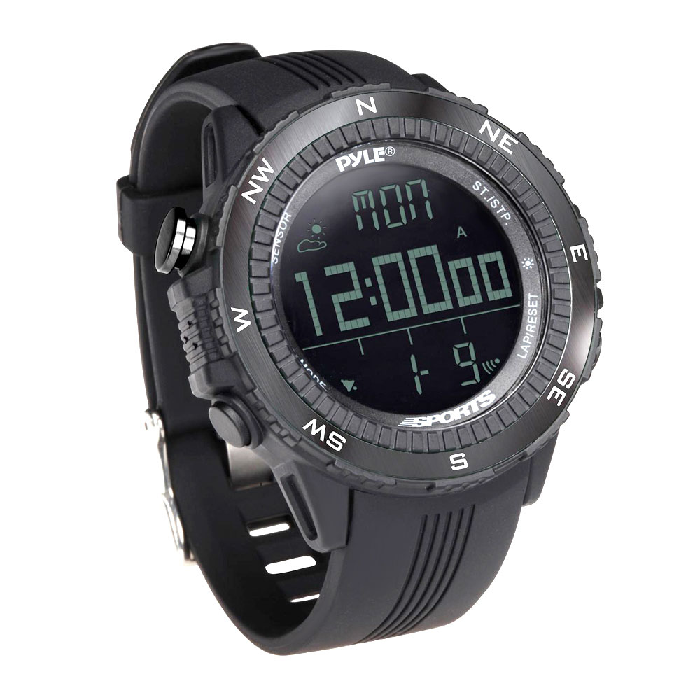Pyle Multifunction Active Sports Watch-Black