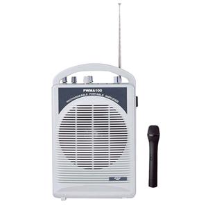 Pyle Pro Single Channel Wireless Mic Amp White