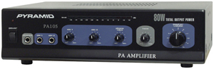 Pyramid Car Audio PA105 Amp with Microphone Input (80 Watt)
