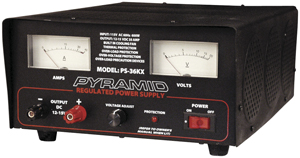 Pyramid Car Audio PS36KX 32-Amp Power Supply with Built-in Cooling Fan