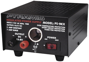 Pyramid Car Audio PS9KX Power Supply (70 Watts Input, 5 Amps Constant)