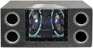 "Pyramid Car Audio BNPS102 Dual Bandpass System with Neon Accent Lighting (10"", 1,000 Watts)"
