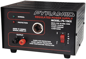 Pyramid Car Audio PS15K 10-Amp Power Supply with Car-Charger Adapter